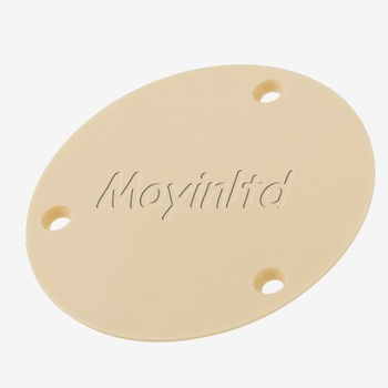 CIRCULAR BACK PLATE FOR ELECTRIC GUITAR CREAM COLOR