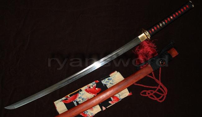 ¿Regalo, cual regalo?  Rose-SAYA-de-madera-MATERIAL-combinado-arcilla-templado-japonés-SAMURAI-KATANA-espada