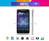 5.0 inch Lenovo S890 android phones MTK6577 Dual Core 1.2GHz  QHD IPS 1G RAM 8.0MP Camera