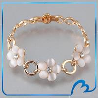 Magentic Rare Opal Natural Stone Exqusite Flower Design 18K Gold Plated Handmade Bracelet New Arrival 2013 Bracelets