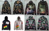 TOP US Hiphop Supreme Phoenix Totem flower hoodie Brand Fashion MEN Sweatshirt , US Brazil Korea flag Hoodies 1991 INC HBA
