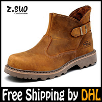 Free shipping by DHL ZSUO Leather boots Brand top Quality fashion boots for men  western riding boots combat army boots shoes