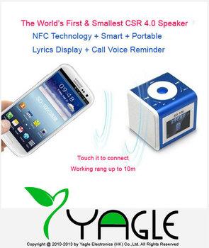 Hi-Rice SD-106 1.5'' LCD Speaker NFC Wireless Stereo HiFi NFC Bluetooth 4.0 Mini Speaker For iphone for ipad Smart phone / PC
