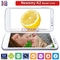 New Arrival Newman K2 5.5 inch Quad Core Android 4.2 Smart Phone Dual SIM/Dual Standby 13MP Camera 1G RAM 16G ROM GPS Bluetooth