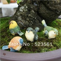 New Arrival 2014 Bussiness Gift Orations Animal Decoration Resin Craft 4 Birds Animal Bird Factory Direct Selling Drop Shipping
