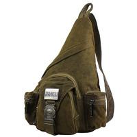 Fashion Men Canvas Single Shoulder Back Pack Outdoor Travel Messenger Bags Riding Sling Bag Male 2 Colors HENGLI 2014