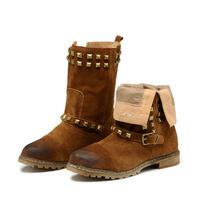 2013 hot new fashion rivet decoration female boots Cheap Women Shoes Processing