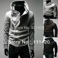 Men's Hoodies Warm Fashion Hoodies New Brand High Collar Top Jackets Male Coats Sweatshirts