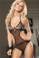 Black Transparent Net Yarn Bandage Sexy Bare Back One-Piece Bress Racy Lingerie Sexy Cosplay Costumes For Sex Game Costumes