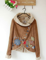 2013 Desigual Best Price Desigual Women's Faux Fur Coat Jacket Size 36-38-40-42-44-46 Single-breasted