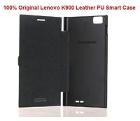 Free shipping Original Lenovo flip Case for Lenovo K900 gray khaki in stock gift screen protector