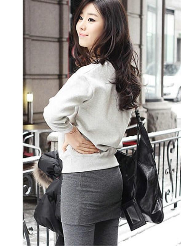 Леди леггинсы корейский дамы мирко бархат тонкий брюки леггинсы с юбкой плиссировка юбки