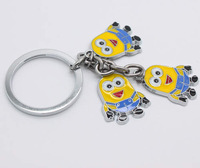 Wholesale Fashion Jewelry Novelty Items Key Ring 2013 new Despicable Me Keychain Cute Christmas Gift For Friend  KZ005