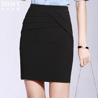 Free Shipping Office Lady A Line Skirt Korean Style Pencil Skirt Women Professional Elegant Over Hip Short Skirt Plus Size 2013