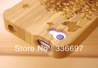 Mobile phone case For iphone 4 Wood Wooden Bamboo Case Cover for Apple iphone 4 4S New Arrival, Free Shipping