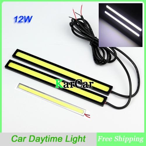 1Pair Ultra-thin 14W COB Chip 80 LED Car Daytime Light Fog Light Head Lamp, Universal DRL Waterproof Lights Cool White(China (Mainland))