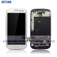LCD Display +Digitizer Touch Screen+Frame for Samsung Galaxy S3 i9300 Assembly White free shipping