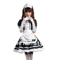 TOMSUIT Sexy Costumes Dress Cute Anime Cosplay French Apron Maid Fancy Dress Lolita Maid Outfit Costumes for Halloween