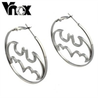 fashion  batman  earrings for women stainless steel huggie earrings