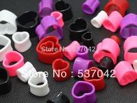 2014 new hot heart design ear gauges body jewelry mix lots flesh tunnel ear plugs fashion piercing jewelry