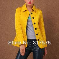 Free shipping 2013 winter female coat Slim new products haute couture fashion wild diamond Plaid Cotton Jacket