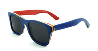 2014 Free Shipping Factory Outlet Purely Hand Made Skateboard Wood Made Sunglasses Multi-color Model Z68004ms41