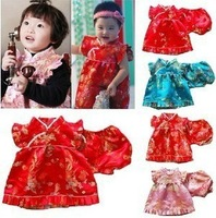 Cheongsam Dress+Shorts Set Chinese Traditional Children Dress Cute Girls 1pcs sale Only Baby Girl
