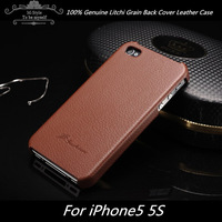 Genuine Leather Case for  iphone 5,Real Leather Back Cover for iphone 5s accessories,cell phone cases for iphone 5 Free shipping