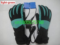 whole sale water proof fingers heating gloves with 3 hours warm and rechargeable battery,three colours to choose