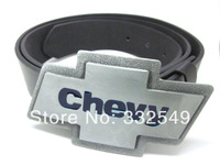 PEWTER COLOR CHEVY  belt  Buckle with Free belt , Free shipping worldwide
