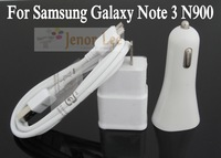 Freeshipping 1 set/lot Top Quality 3 in 1 Kit Charger, Wall Charger+Car Charger+USB 3.0 Cable For Samsung Galaxy Note 3 S5 I9600