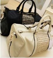 A2ag hot sale Mango women's handbag mng women metal rivet bag pu leather cool black color  bag-003