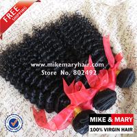 Mike & Mary Peruvian Kinky Curly Hair 3pcs/Lot Peruvian Unprocessed Natural Color 1b Human Virgin Hair
