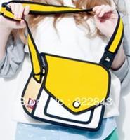 Free Shipping Hot 2013 Fashion handbags 3D Cartoon Bag Comic handbag cartoon bag 3d handbag gismo ladies messenger 3d bag