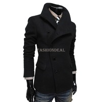 2013 New Fashion Man Woolen Jacket Fitted Long Sleeve Thicken Blazer Lapel Coat Men Winter Coat Warm Outerwear plus size 18208