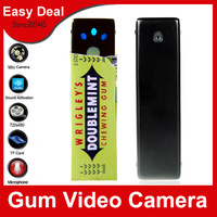100% New Mini Hidden Portable Gum Video Camcorder DVR Camera 720X480 AVI Gum Hidden Camera Free Shipping
