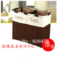Large capacity double folding laundry basket oxford fabric storage basket laundry basket storage basket 39.9
