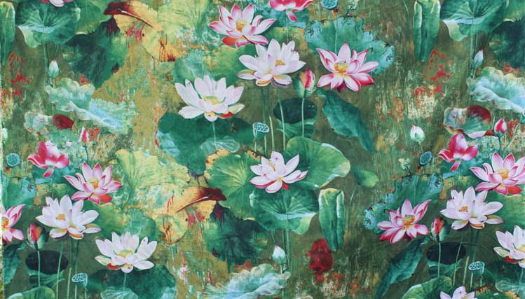 specials 150cm breed etnische olieverfschilderij stijl lotus afgedrukt ...