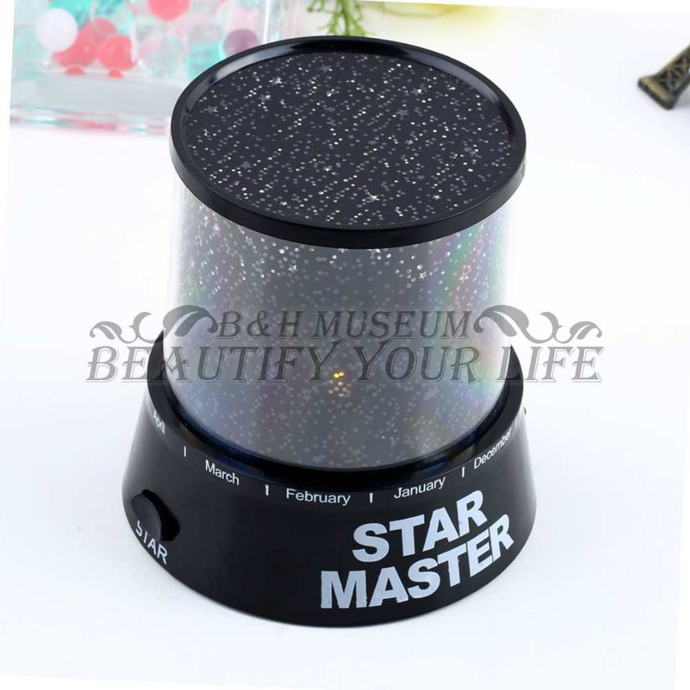 1pcs Star Sky Romatic Gift Cosmos Master Projector Starry Night Light Lamp(China (Mainland))