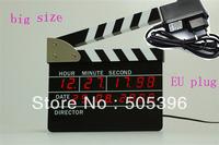 HK Post/E-PACKET Free Shipping Big Size LED Digital Alarm Clock Director Action Board Clock EU Plug for Novelty Gift