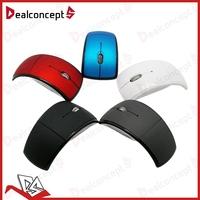 100Pcs Lot DHL Free Shipping Flodable 2.4Ghz Arc USB Wireless Mouse 1200Dpi
