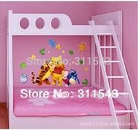 cartoon tiger wall sticker home decoration, kids room wallpaper 3D ,children bedroom wall decals mural k034 Free shipping