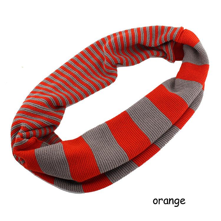 Nouvelle conception dames 2014 couleur acrylique anneau de foulard rayé, marque de mode foulard écharpe d'hiver au chaud collier pour les femmes
