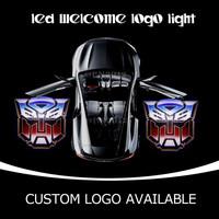 3D Car Door LED Emblem Welcome Light Door Step Ground Door Laser Projector Ghost Shadow Transformers Logo Light 2204