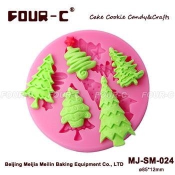Рождественские елки sugarcraft силиконовые формы, рождественский торт украшения, ...