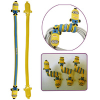 Flexible Yellow Minion Shape Cable Winder Holder