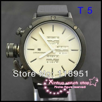 2014 Hot new world watches large dial calendar automatic mechanical rubber band multifunction original luxury men's watch U03