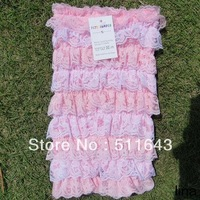 Christmas wholesale brand baby cute romper girls jumpsuit pink white lace cake crochet tube top+pants bodysuit toddler clothing