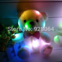 Mini Colorful light-emitting pillow doll plush toy doll male halloween romantic birthday gift/22cm seat height