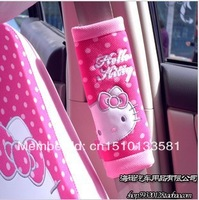 1pcs retail, 2014 hot sale hello kitty pink car seat safety belt cover &padding / Car interior accessory, Factory store